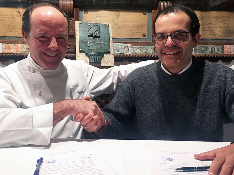 ILa Asociación Segoviana de la Prensa Deportiva firma un convenio con el Mesón Cándido