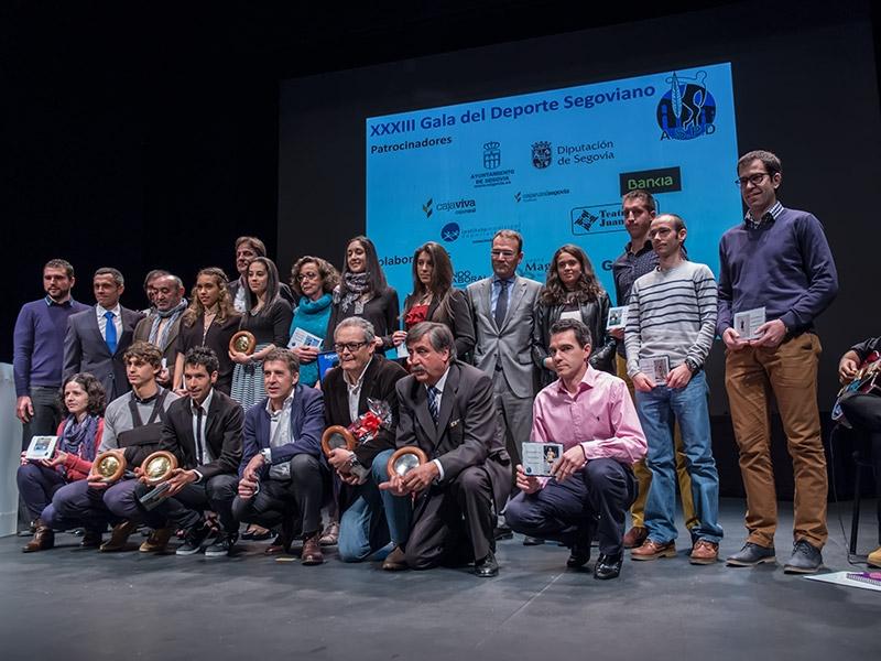 IEl Naturpellet, la Gimnástica Segoviana, Javi Guerra, David Llorente, Sara Gómez y Estela García, premios serie oro de la Gala del Deporte